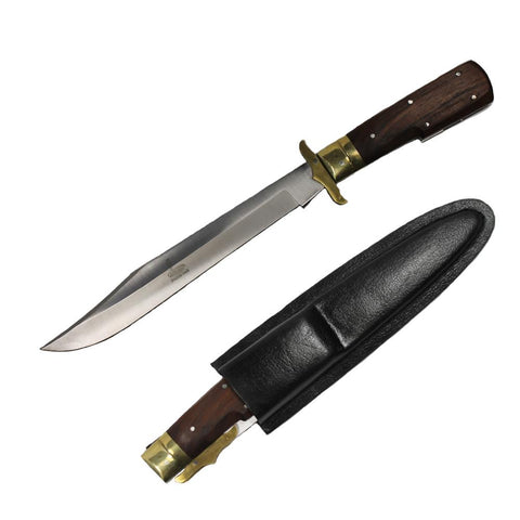 12 Inch COBRA FOLDING KNIFE Wood & Brass Handle