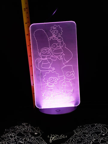 The Simpsons Family Color-Changing LED Night Light Lamp