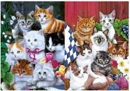 "3D Cats Picture 9.75""x 13.75"""