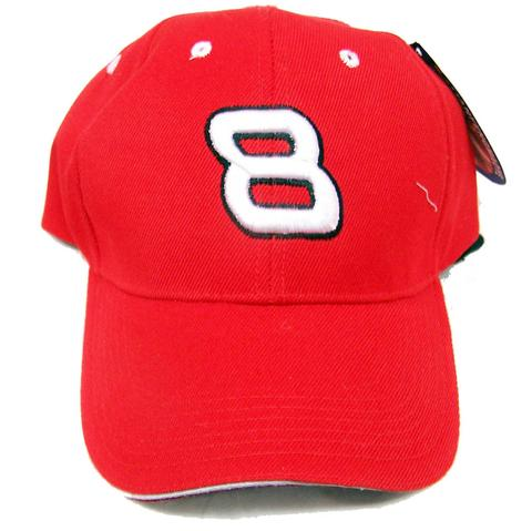 8 Red Velcro Adjustable Baseball Cap Hat