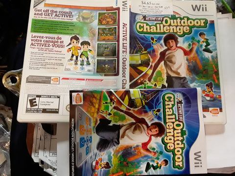 Active Life Outdoor Challenge Used Nintendo Wii Video Game