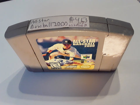 All-Star Baseball 2000 Used N64 Video Game