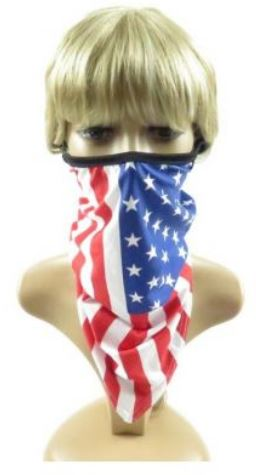 American Flag Face Mask With Ear Loops in Multiple Designs