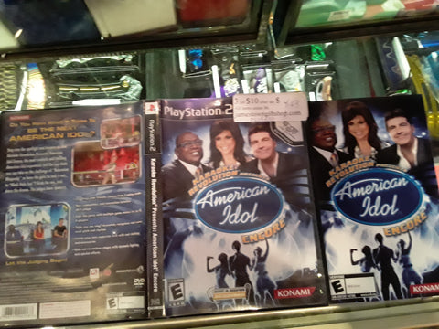 American Idol Karaoke Revolution Encore USED PS2 Video Game