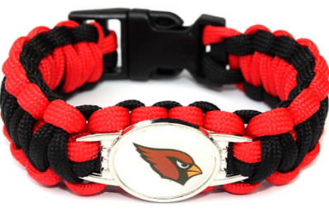 Arizona Cardinals NFL Paracord Bracelet