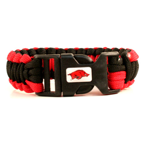 Arkansas Razorbacks NCAA Survival Paracord Bracelet
