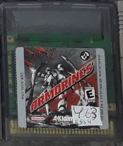 Armorines Used Gameboy Color Video Game Cartridge