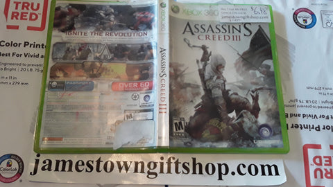 Assassin's Creed III Used Xbox 360 Video Game