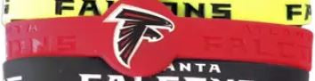 Atlanta Falcons NFL Silicone Rubber Wrist Band Bracelet Assorted Colors
