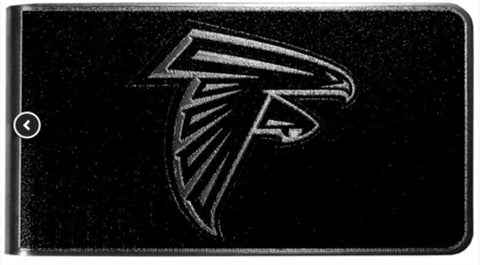 Atlanta Falcons NFL Black Steel Money Clip