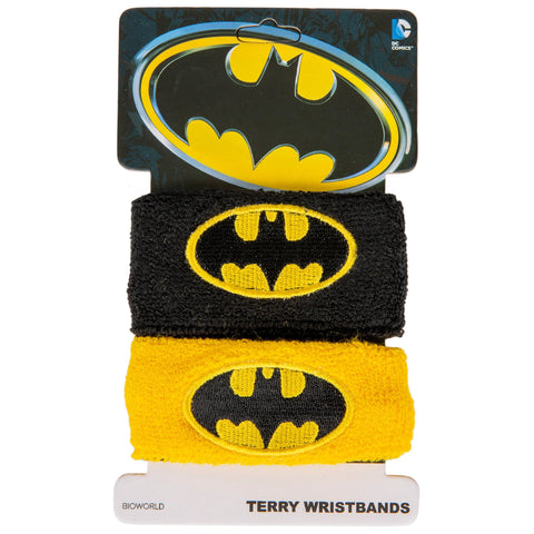 BATMAN DC COMICS CLASSIC SYMBOL TWO-PAIR TERRY WRISTBANDS
