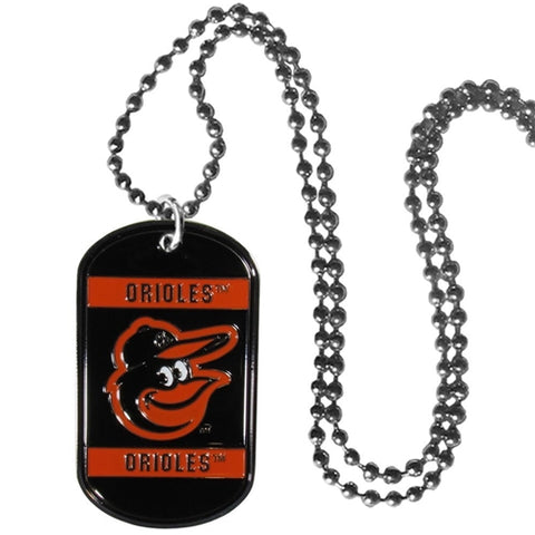 Baltimore Orioles MLB Dog Tag Necklace