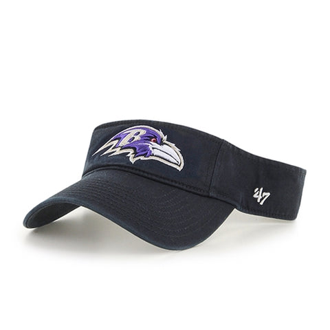 Baltimore Ravens NFL Black Clean Up Adjustable Visor