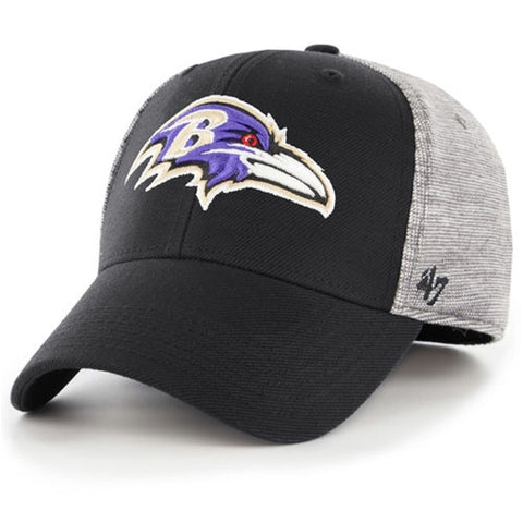 Baltimore Ravens NFL Contender Dark Gray Verona Stretch Fit Cap Hat