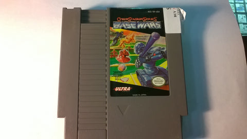 Base Wars Cyber Stadium Series Original Nintendo NES USED Game