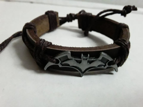 Batman Bat Faux Leather Bracelets
