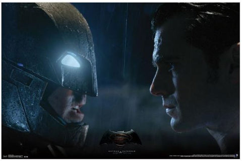 Batman vs. Superman Stare 34x22 Movie Poster