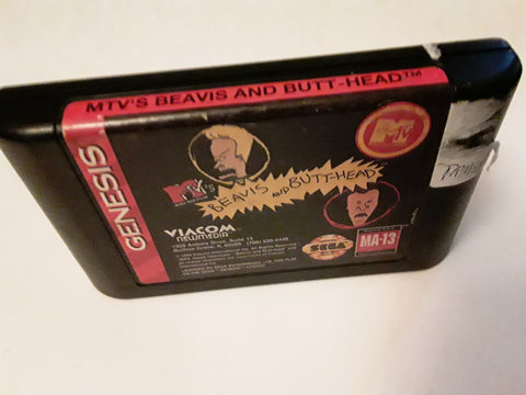 Beavis and Butt-Head Used Sega Genesis Video Game