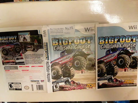 Big Foot Collision Course Monster Trucks Used Nintendo Wii Video Game