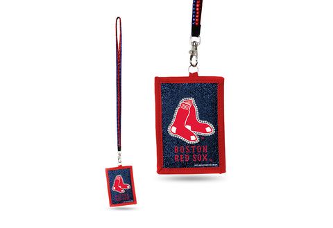 Boston Red Sox MLB ID Holder Lanyard With Zippered Compartment