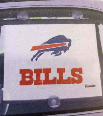 Buffalo Bills 14 Inch Franklin Retractable Sunshade With Suction Cups
