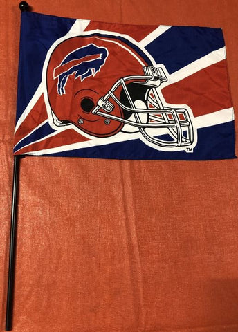 Buffalo Bills NFL 18x12 Flag With Pole