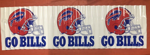 Buffalo Bills 18x63 NFL Plastic Banner