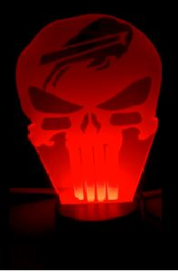 Buffalo Bills NFL Punisher Skull Color Changing LED Night Light