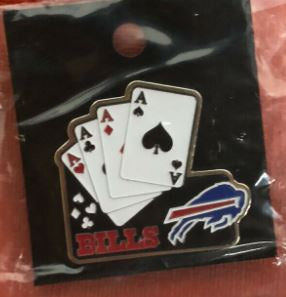 Buffalo Bills NFL Playing Card Pin Button