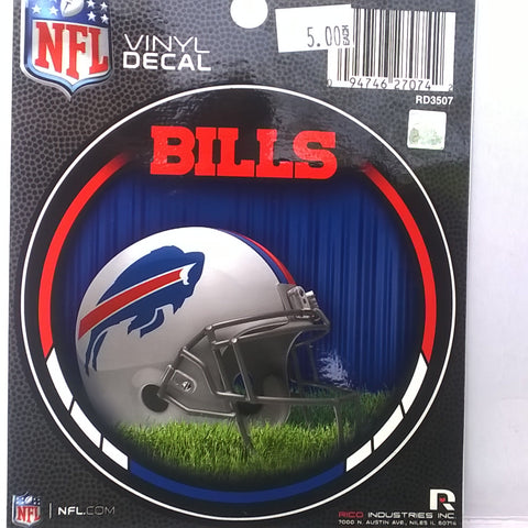 Buffalo Bills NFL 4 inch Round Vinyl Decal