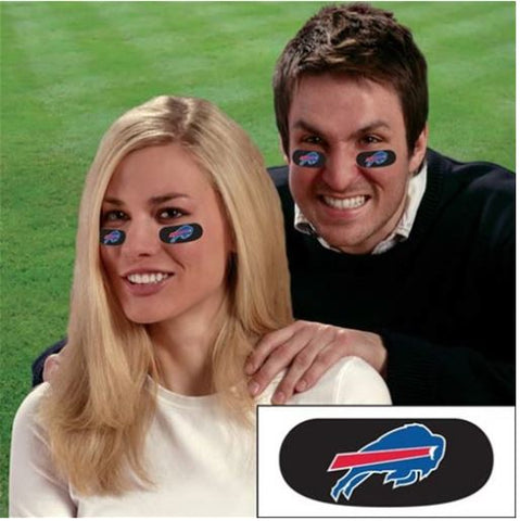 Buffalo Bills NFL Vinyl Black Eye Strip Stickers 6-Pack