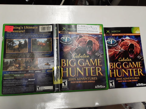 Cabela's Big Game Hunter 2005 Adventures Used Original Xbox Video Game