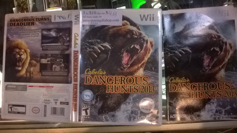 Cabela's Dangerous Hunts 2013 Used Nintendo Wii Video Game