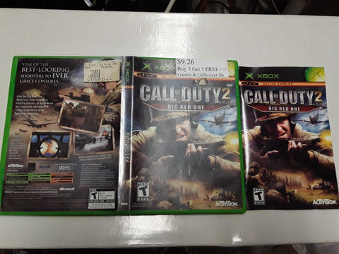 Call of Duty 2 Big Red One Used Original Xbox Video Game