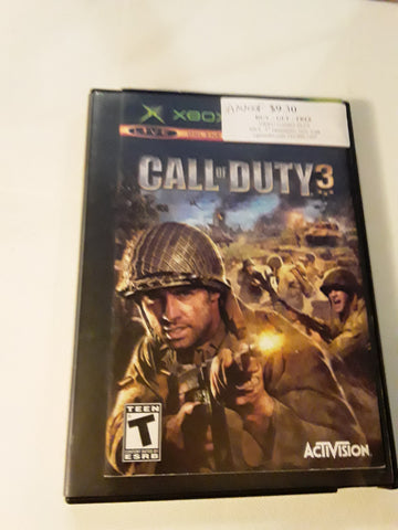 Call of Duty 3 Used Original Xbox Video Game