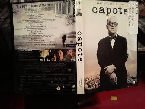 Capote USED DVD MOVIE Phillip Seymour Hoffman