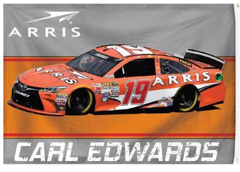 Carl Edwards Arris #19 NASCAR 3x5 Flag