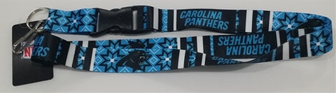 Carolina Panthers NFL Ugly Sweater Lanyard Keychain