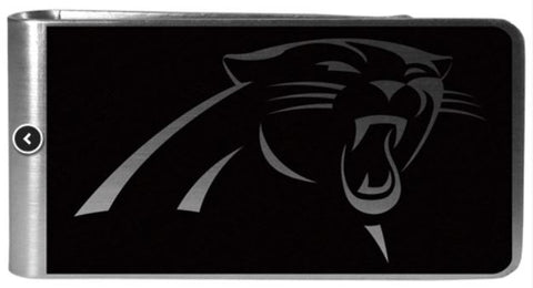 Carolina Panthers NFL Black Steel Money Clip