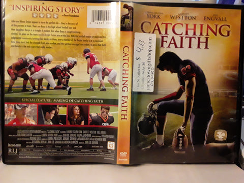 Catching Faith 1 Football DVD Movie Lorena Segura York, Garrett Westton, Bill Engvall