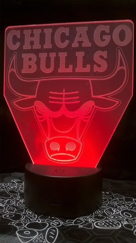 Chicago Bulls NBA Color-Changing LED Night Light