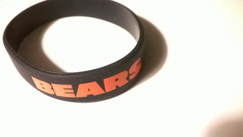 Chicago Bears NFL Play 60 Rubber Bracelet