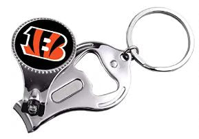 Cincinnati Bengals NFL 3 in 1 Metal KeyChain Bottle Opener Nail Clipper