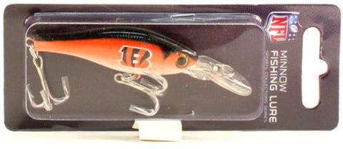 Cincinnati Bengals Minnow Crankbit NFL Fishing Lure