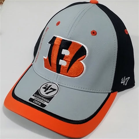 Cincinnati Bengals NFL Crash Line Contender Stretch Fit Hat 47 Brand