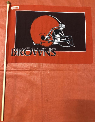 Cleveland Browns NFL 12x18 Flag With Pole