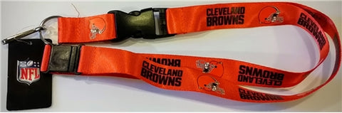 Cleveland Browns NFL Orange Lanyard Key Chain