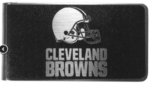 Cleveland Browns NFL Black Steel Money Clip