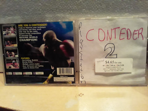 Contender 2 Boxing Used Playstation 1 Game