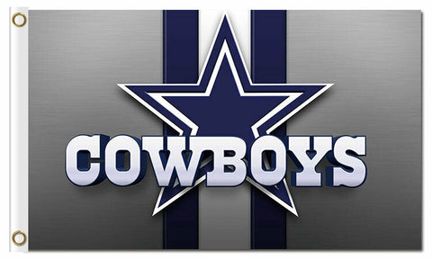 Dallas Cowboys 3x5 NFL Star Gray Flag Polyester